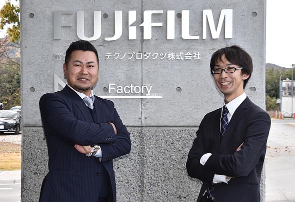 富士フイルムの原田桂太氏(左)と富士通の石渡博一氏(右)