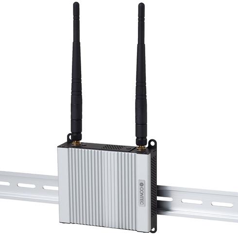無線LANモデルのDINレール取付けイメージ
