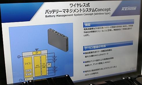 ワイヤレス式バッテリーマネジメントシステムの特徴