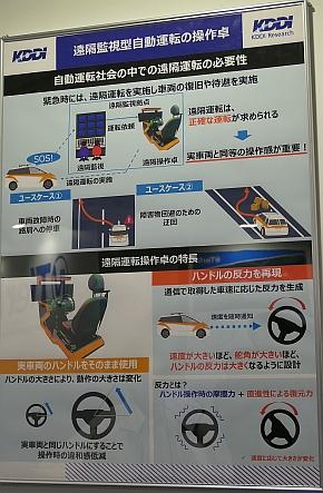 遠隔監視型自動運転用の操作卓の概要