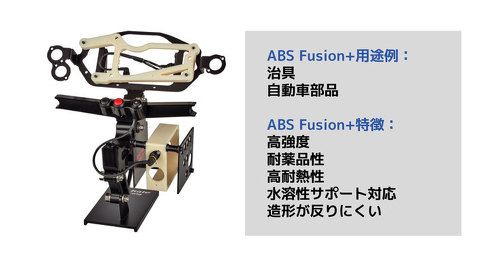 「Ultrafuse ABS Fusion+」の特長と適用例