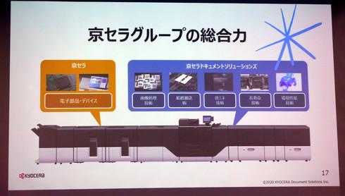 京セラグループが培ってきた要素技術を結集した(クリックして拡大)出典:京セラドキュメントソリューションズ