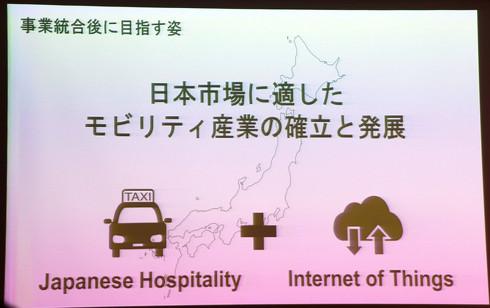 統合後は「日本ならではのモビリティサービス」の構築を目指し事業を展開していく[クリックして拡大]出典:日本交通、DeNA