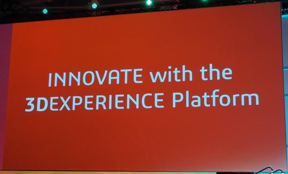 2日目のゼネラルセッションのテーマは「3DEXPERIENCEプラットフォームによるイノベーション」だった