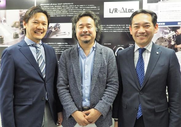 インタビュー取材に応じてくれたNejiLawの道脇氏(中央)と、カシオ計算機の西尾氏(左)と河合氏(右)