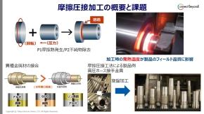 摩擦圧接加工の課題