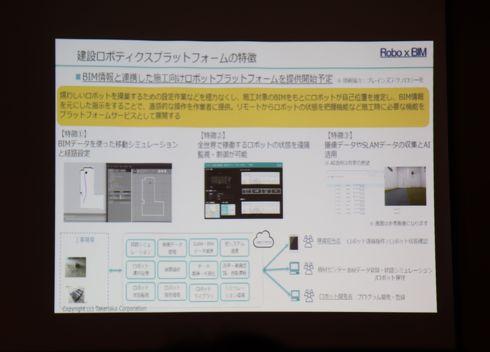 建築ロボットプラットフォームの特徴について[クリックして拡大]出典:竹中工務店