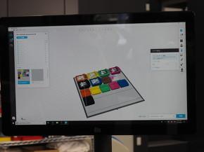 専用ソフトウェアの「GrabCAD Print」の画面
