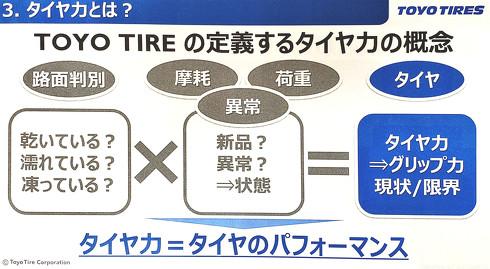 TOYO TIREが定義する「タイヤ力」の内容[クリックで拡大]出典:TOYO TIRE