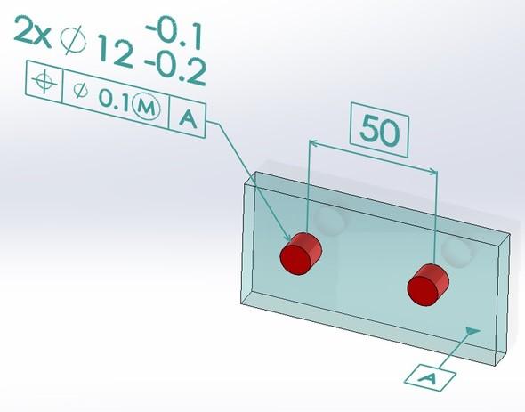 最大実体公差 部品例A(軸部品)