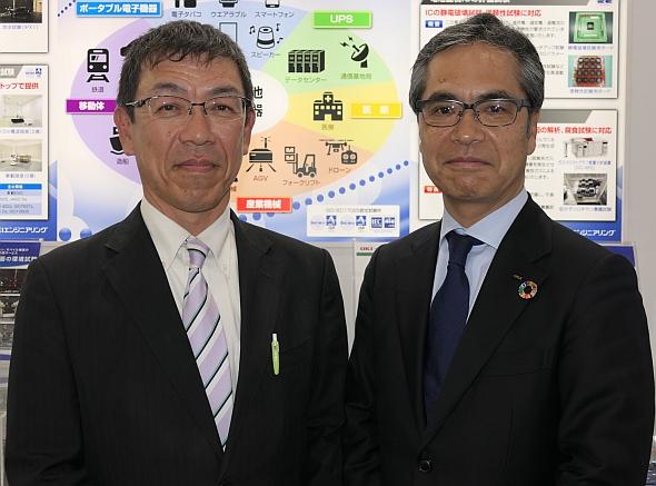OKIエンジニアリングの橋本雅明氏(右)と岡克己氏(左)