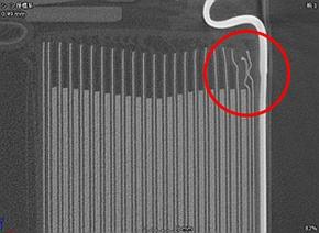 二次電池のX線CTによる内部構造写真
