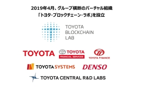 6社でトヨタ・ブロックチェーン・ラボを立ち上げ