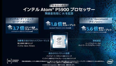 5G基地局向けに設計されたSoC「Atom P5900」のパフォーマンス概要[クリックして拡大]出典:インテル