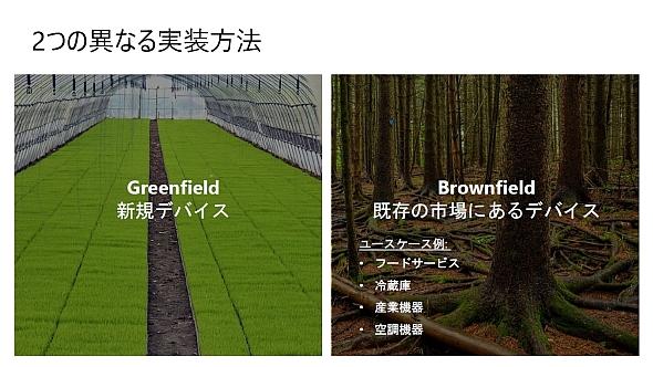 IoT機器の「グリーンフィールド」と「ブラウンフィールド」。「Azure Sphere」は両方に対応できる