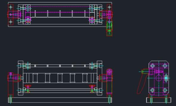 図7 全ての投影図を隠線処理した状態