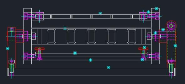 図9 ボルト類を除く全ての構成部品のパーツ定義が完了した状態