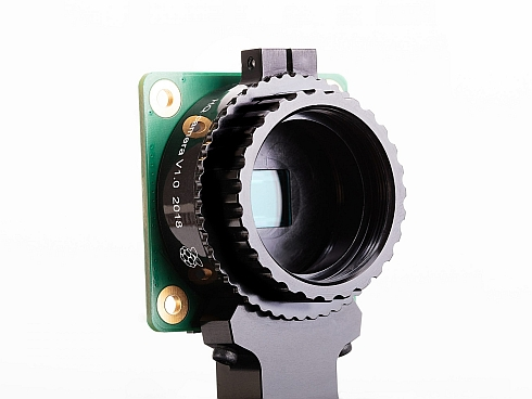 レンズ未装着状態の「Raspberry Pi High Quality Camera」