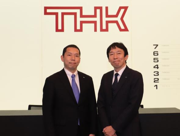THKの寺町崇史氏(左)と坂本卓哉氏(右)
