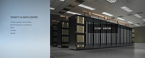 50台の「DGX-1」と600台のCPUシステムで構成されるAIデータセンター