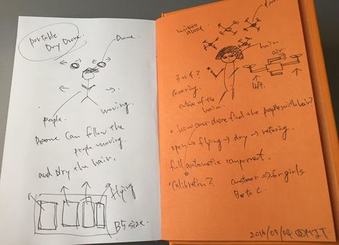 MITの学生たちと議論した際に書き留めたメモ。石川氏はいまも大事に保管している[クリックして拡大]出典:Spiral