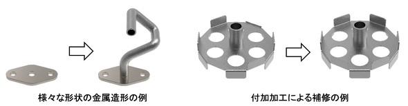 さまざまな形状の金属加工を容易に実現できる