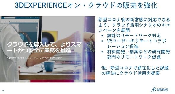 今後「3DEXPERIENCE on the Cloud」の販売を強化していく