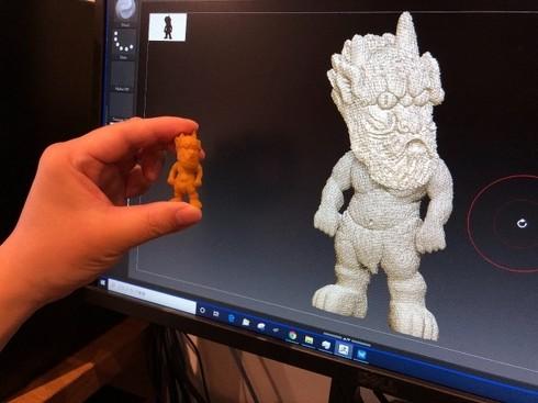 妖怪像を3Dデータ化