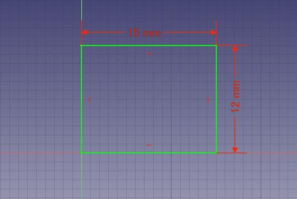 図1 長方形の作図