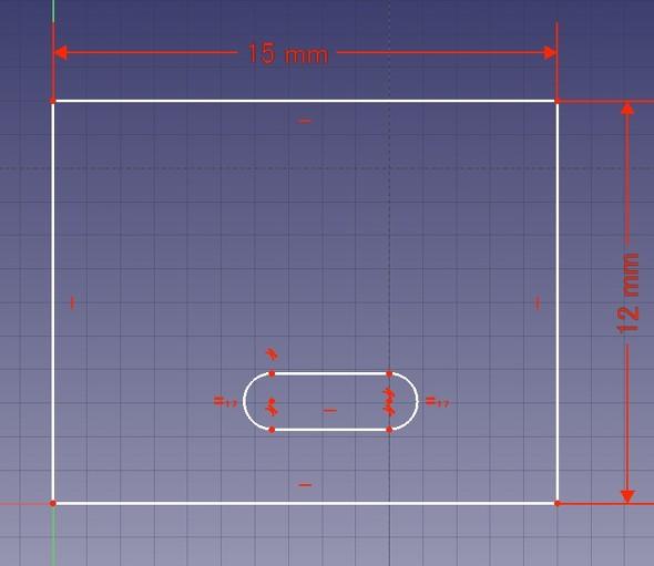 図3 適当な大きさで長円を配置(白色の線になる)