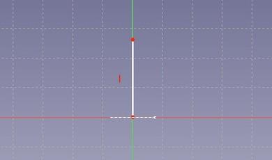 図23 円を真上から見た線の中央の点から、縦に線を描く