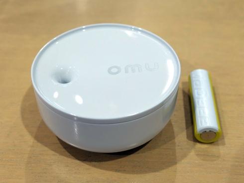 「omu」のIoT機器にはノバルスの乾電池型IoTデバイス「MaBeee」が組み込まれている