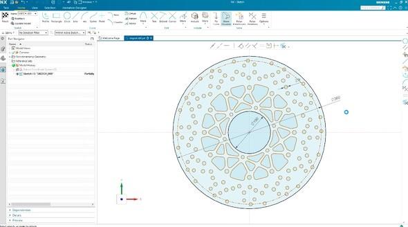 「NX Sketch」の画面イメージ