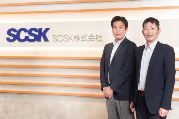 SCSKの徳田日出海氏(左)と宮田有二氏(右)