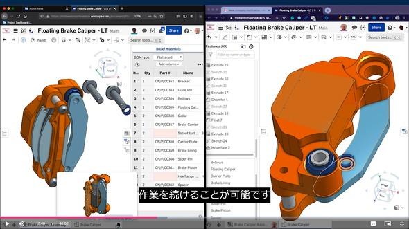 図2 遠隔で同じファイルを共有しながらチャットなどを用い共同作業ができる