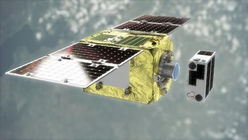 デブリ除去実証衛星「ELSA-d」のイメージCG