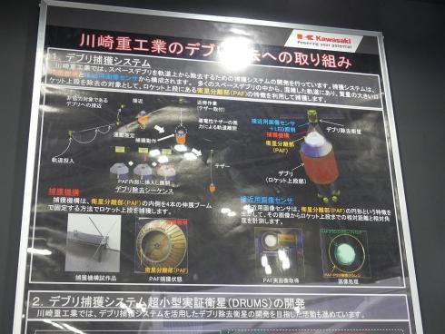 川崎重工業のデブリ除去技術