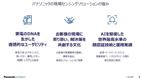 現場センシングソリューション事業の3つの強み