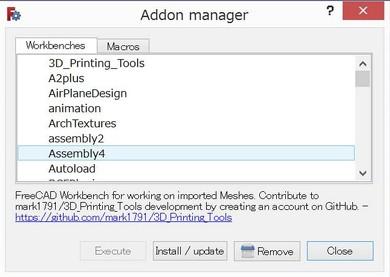 図5 Addon managerの画面。他にも気になるブラグインがいろいろ