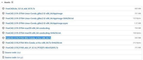 図14 Windows対応の開発版をダウンロードする