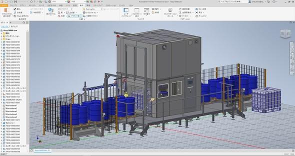 画像1 Inventor 2021の画面イメージ(1万点のフルアクティブモデルの例)