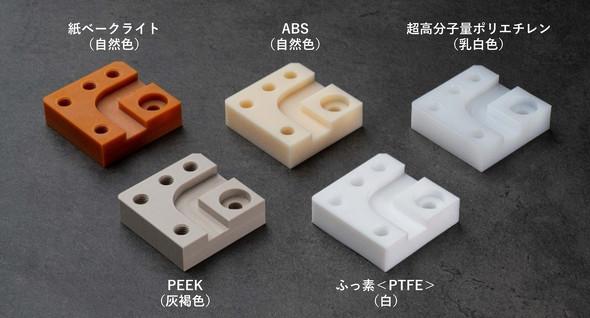 新たに追加したFA切削プレート加工材質種