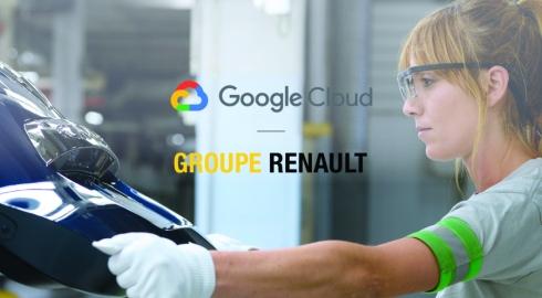 ルノーグループとグーグルクラウドの提携イメージ