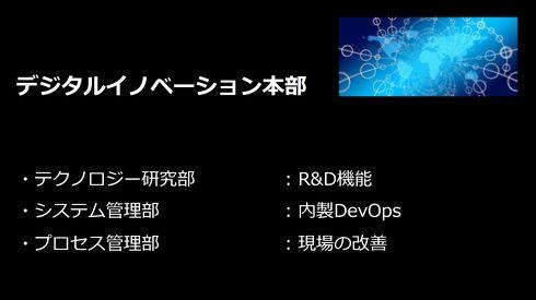 IoTを活用したDX推進のために情報システム部にR&D機能を持たせた新部門を設立した[クリックして拡大]出典:フジテック、ソラコム