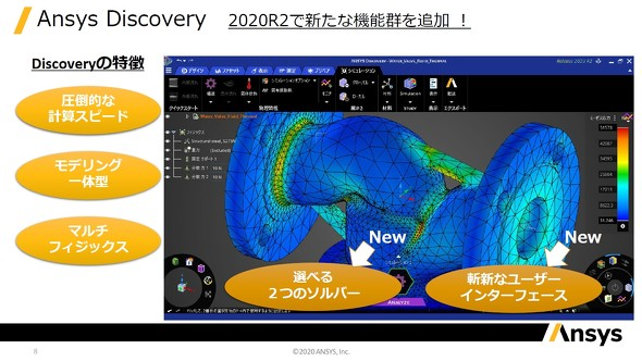 Ansys Discovery 2020R2の強化ポイント