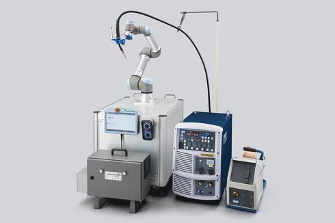 溶接機メーカーとしては国内初の「UR+」認証を獲得した「Welbee Co-R」[クリックして拡大]出典:ユニバーサルロボット