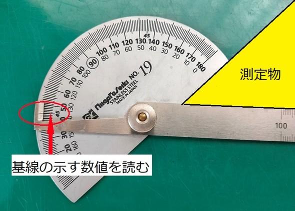 プロトラクターを使った測定
