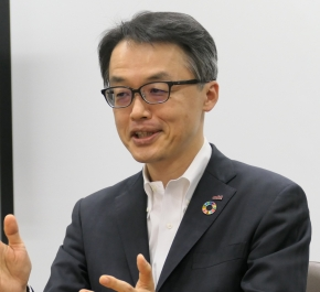 アズビルの新社長に就任した山本清博氏