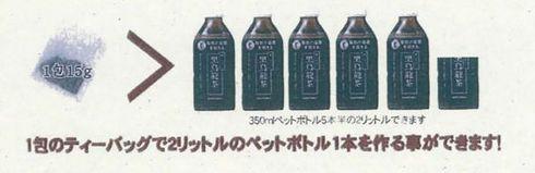 比較広告(a)。問題となった「黒烏龍(ウーロン)茶類似品事件」の判決広告表示目録より引用。[クリックして拡大]