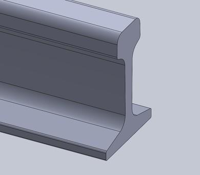 解析に使用したレールの形状(60kgタイプを参考に作成)